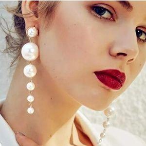 Hesiod Fashion Charm Big Simulated Pearl Long